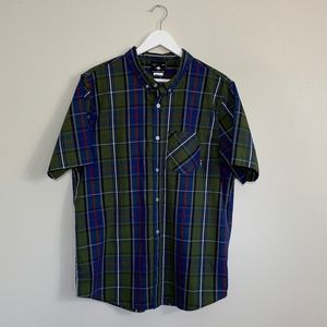 LRG Lifted Research Group Button Shirt Size Large